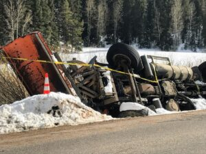 Truck wrecked